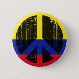 Vrede in Colombia Ronde Button 5,7 Cm