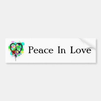 Vrede in Liefde Bumpersticker