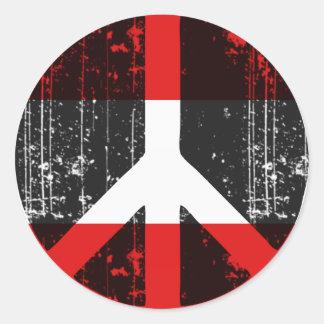 Vrede in Oostenrijk Ronde Sticker