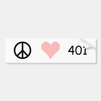 vrede, liefde, 401 bumpersticker
