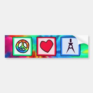 Vrede, Liefde, Architecten Bumpersticker
