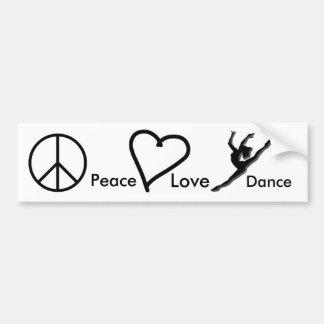 Vrede, Liefde & Dans Bumpersticker