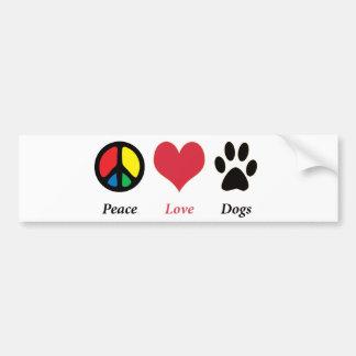 Vrede, Liefde, de bumpersticker van Honden