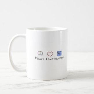 Vrede, Liefde, de Mok van Sleutelwoorden