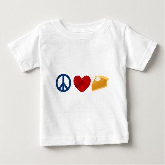 Vrede, Liefde, de Pastei van de Pompoen Baby T Shirts