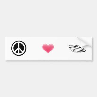 Vrede, Liefde, en Roeien Bumpersticker