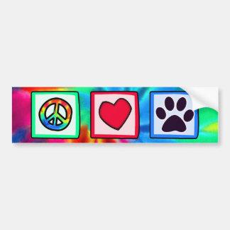 Vrede, Liefde, Hond; Pawprint Bumpersticker