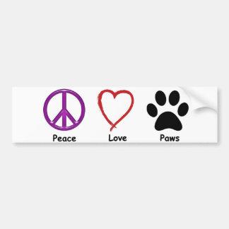 Vrede, Liefde, Poten. It'a allen een huisdierenmin Bumpersticker