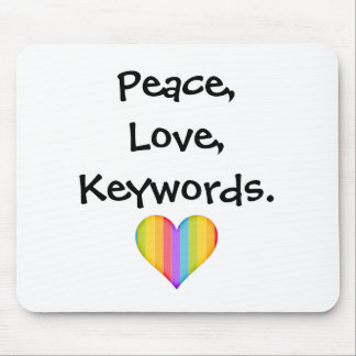 Vrede, Liefde, Sleutelwoorden Muismat