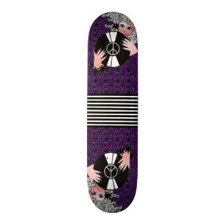 Vrede, Liefde & Vinyl Paars Skateboard Deck