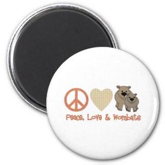 Vrede, Liefde & Wombats Ronde Magneet 5,7 Cm