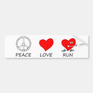 vrede love20 bumpersticker