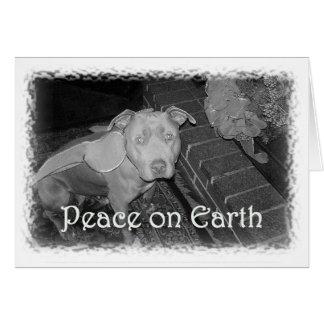 Vrede op de Kerstkaart van de Aarde (de Stier van Wenskaart