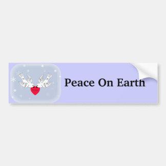 Vrede op de Sneeuwvlokken van het Hart van de Duiv Bumpersticker