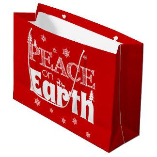 Vrede op Kerstmis van de Aarde Groot Cadeauzakje