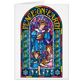 Vrede op Pre-Raphaelite de stijlKerstkaart van de Kaart