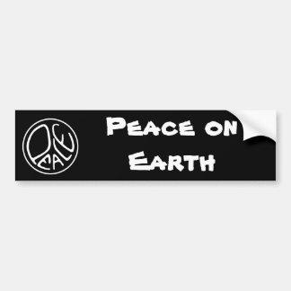 Vrede ter wereld bumpersticker