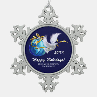 Vrede ter wereld. De klantgerichte Ornamenten van Tin Sneeuwvlok Ornament