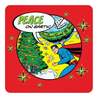 Vrede ter wereld Van Superman 13,3x13,3 Vierkante Uitnodiging Kaart