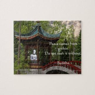 Vrede van binnen, het Citaat van Boedha Legpuzzel