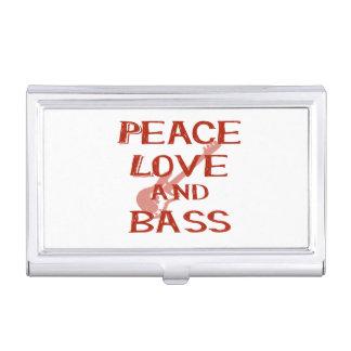 vredes liefde en basbernice rode w gitaar visitekaartjes houder