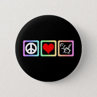 vredes liefde het tuinieren ronde button 5,7 cm
