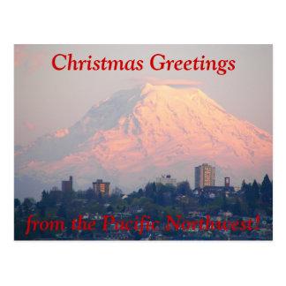 Vreedzame Kerstmis van de Foto van het Noordwesten Briefkaart