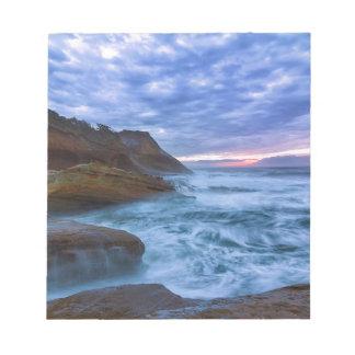 Vreedzame Oceaan bij Kaap Kiwanda in Oregon de Notitieblok
