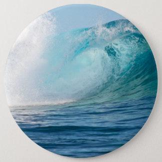 Vreedzame oceaan grote golf brekende knoop ronde button 6,0 cm