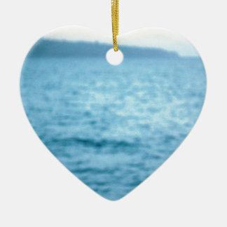 vreedzame pelikaan keramisch hart ornament