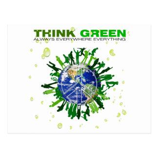 Vreedzame Planeet: Denk Groen Briefkaart