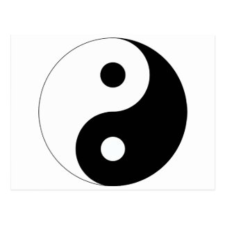 Vreedzame Yin Yang Briefkaart