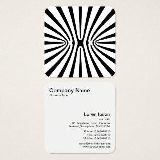 Vreemde Xebra Vierkante Visitekaartjes