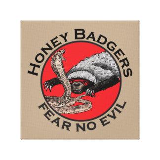 Vrees Geen Kwaad Ontwerp van de Das van de Honing Canvas Afdrukken