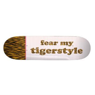 Vrees mijn Citaat & Strepen van Tigerprint van de Skate Deck