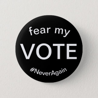 vrees mijn stem ronde button 5,7 cm