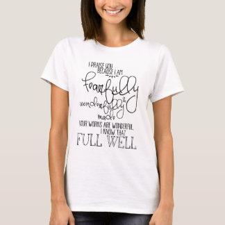 Vreselijk en Wonderfully Gemaakte Psalm139 T Shirt
