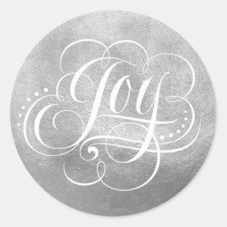 Vreugde aan de Kalligrafie van de Folie van de Ronde Sticker