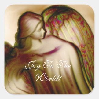Vreugde aan de Sticker van de Engel van de Wereld