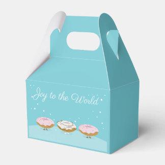 Vreugde aan de Wereld Donuts | Doos van de Gunst Bedankdoosjes