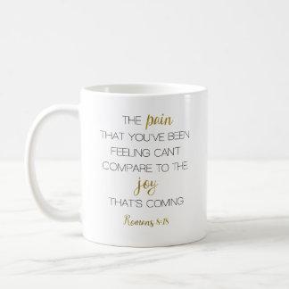 Vreugde die het 8:18 van de Romeinen van de Komst Koffiemok