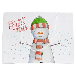 Vreugde en Vrede | Leuke Kerstmis van de Sneeuwman Groot Cadeauzakje