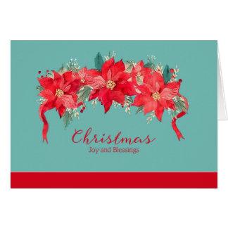 Vreugde en Zegen bij Godsdienstige Kerstmis, Kaart