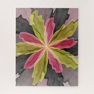 Vreugde, Roze Groene Antraciet Fractal van de Legpuzzel