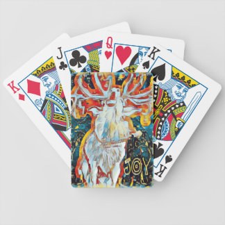 Vreugde Verfraaide Herten Caroling Poker Kaarten