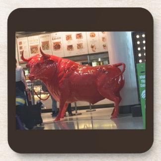 Vriend van de Macht van de stier de Rode Woedende Drankjes Onderzetters