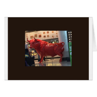 Vriend van de Macht van de stier de Rode Woedende Wenskaart