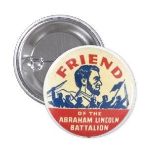 Vriend van het Bataljon van Abraham Lincoln Ronde Button 3,2 Cm