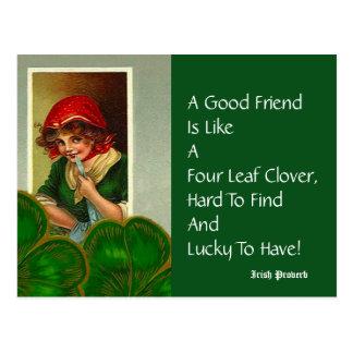 Vriend Vier St Patricks van het Gezegde van het Briefkaart