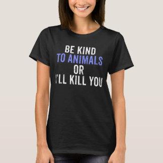 Vriendelijk ben aan de T-shirt van Dieren